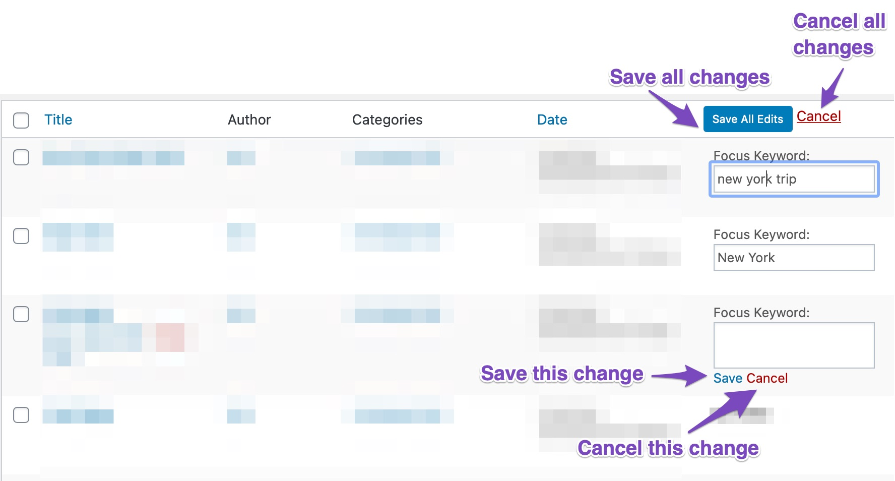 How To Save Or Discard Changes On The SEO Details Field