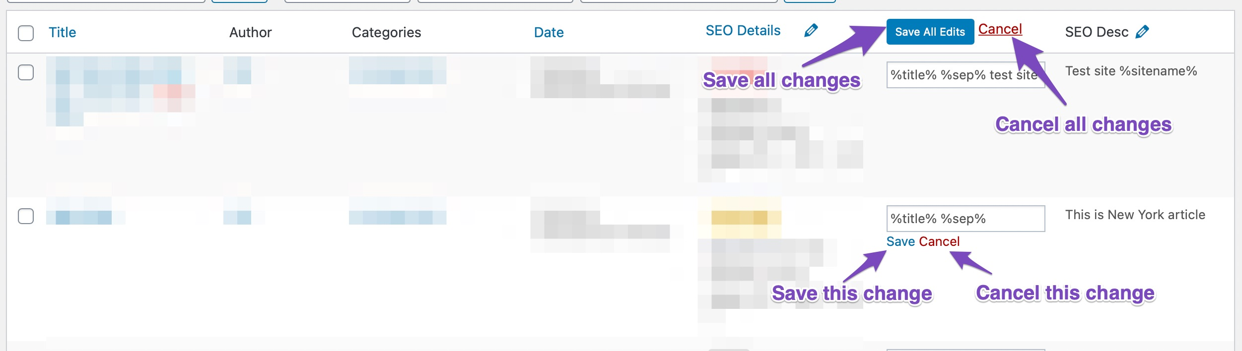 How To Save Changes To The SEO Field Quick Action