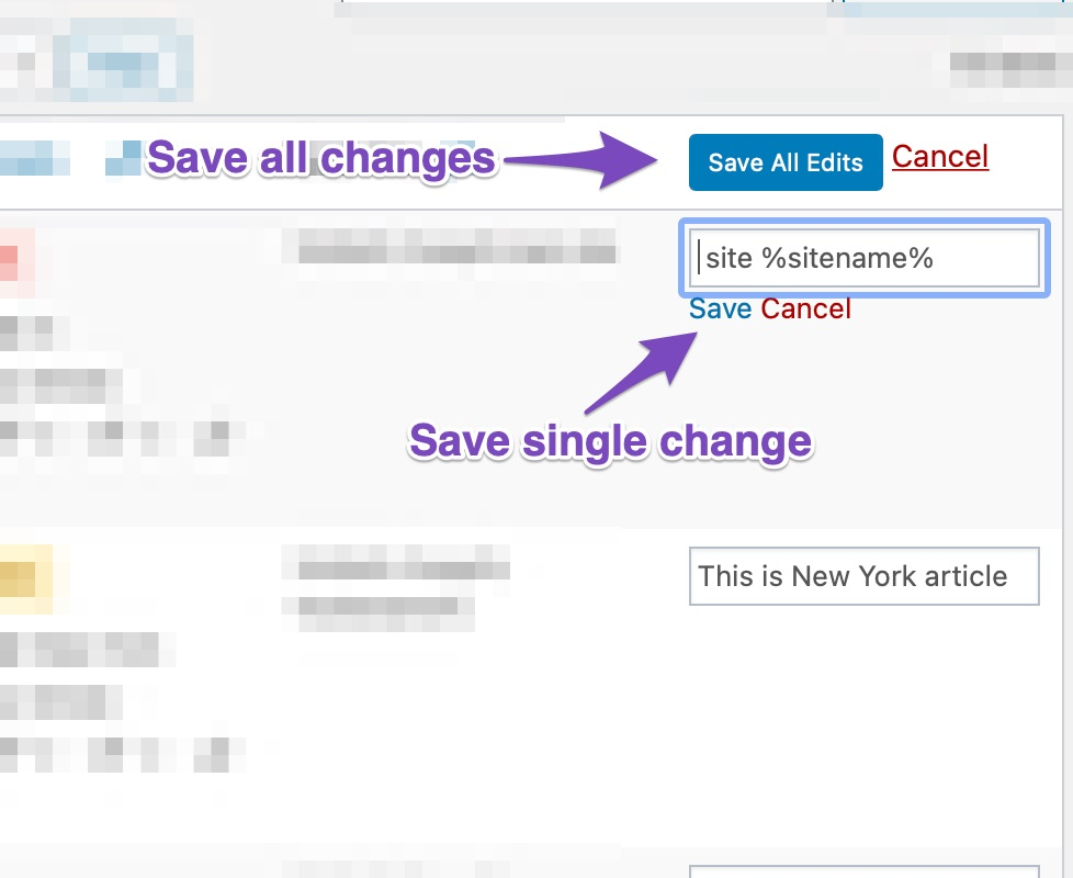 Save Or Discard Changes For SEO Description