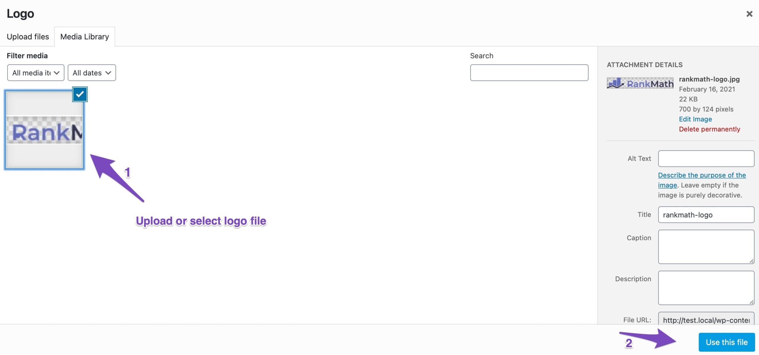 Select logo file