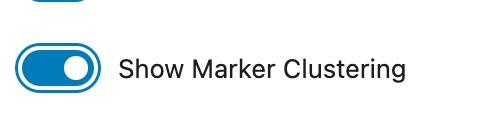 Show Marker Clustering Option