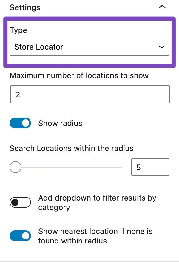 Store Locator Settings