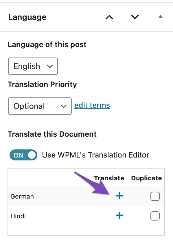 Translate Post Content