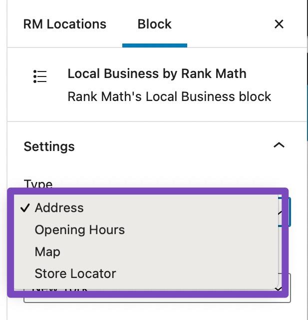 Block Settings-Type