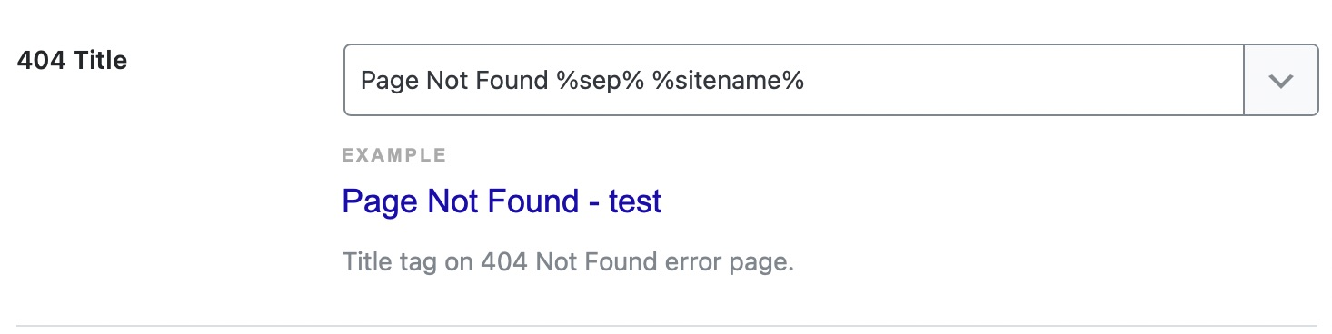 404 page title format