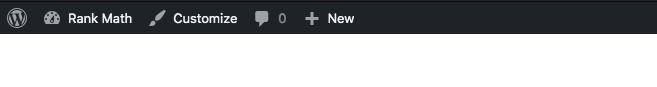 WordPress Admin menu bar