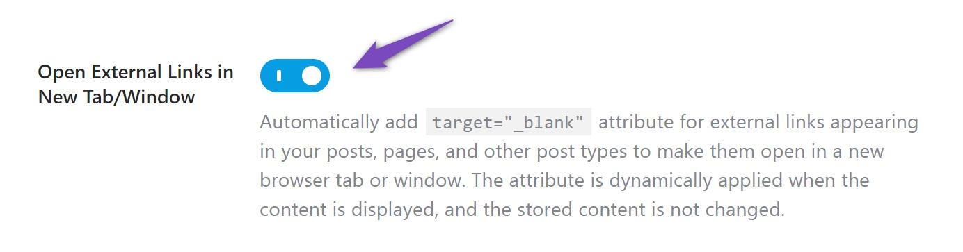 Open external links in new tab/window