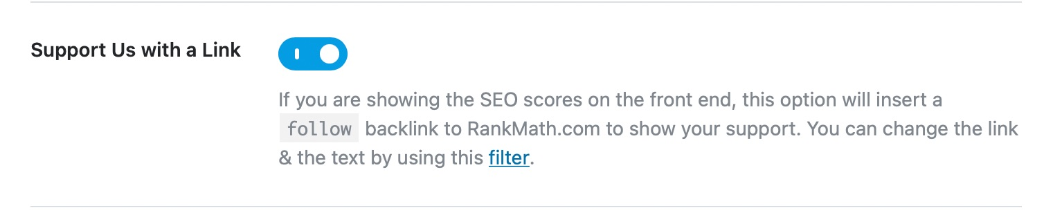 support rank math with a link