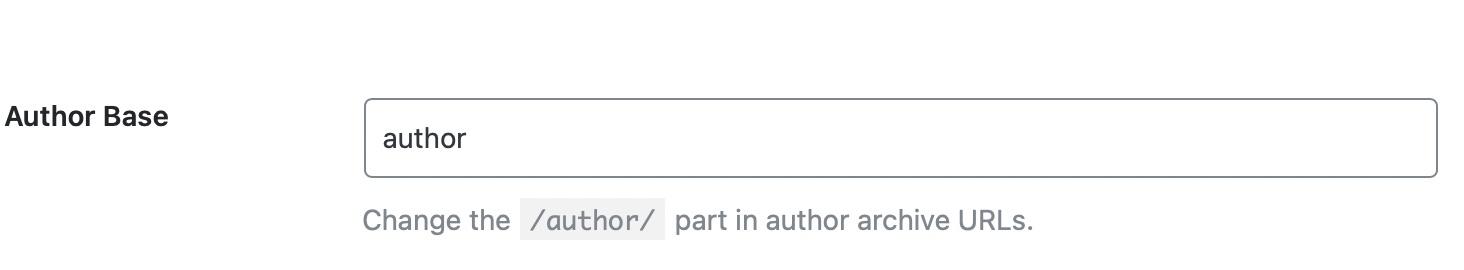 configure author base