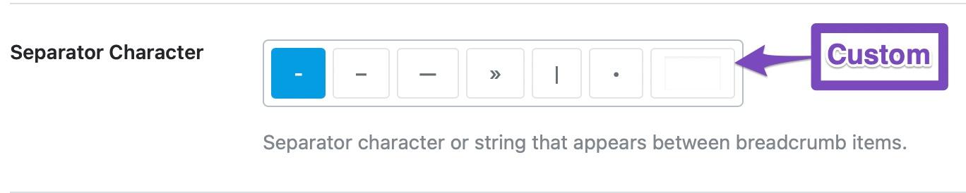 choose separator character