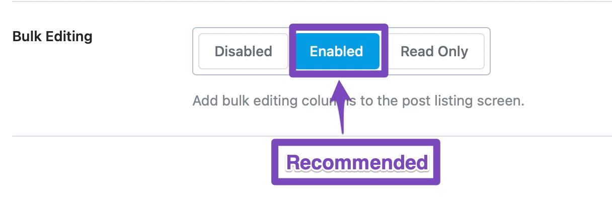 enable bulk editing for posts
