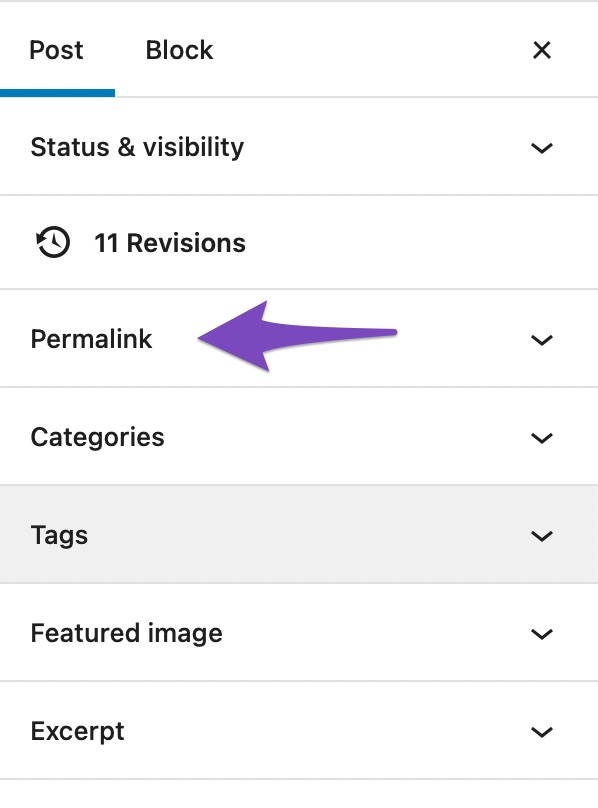 open permalink settings in wordpress