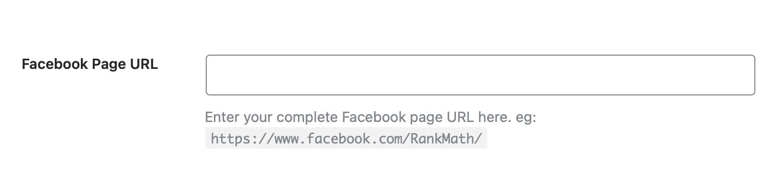 Enter your Facebook page URL - Social Meta