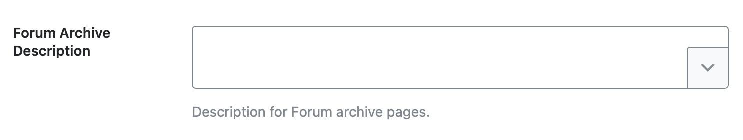 forum archive description template