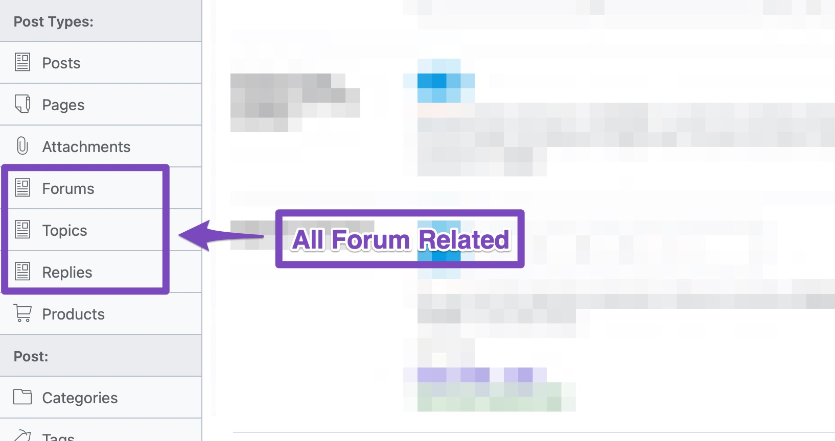 all forum related settings in title and meta settings