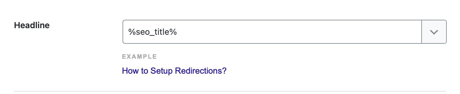 Schema headline format for replies