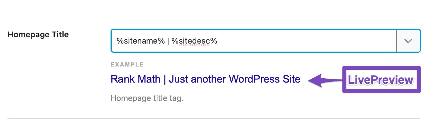 Homepage title - Homepage Meta