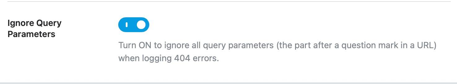 ignore query parameters