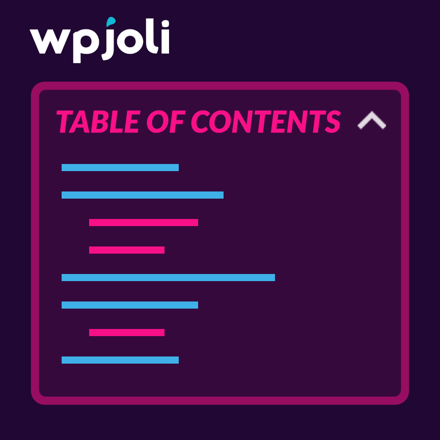 Joli Table Of Contents