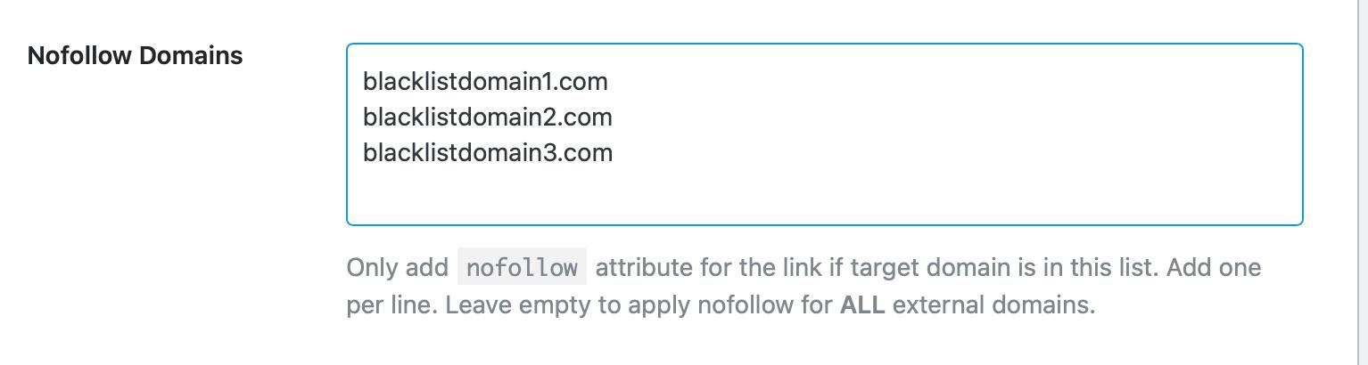 nofollow domains