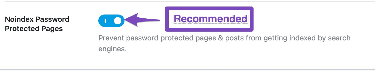 noindex password-protected pages