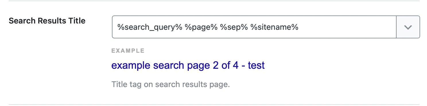 search results title format