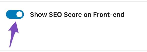 Show SEO Score