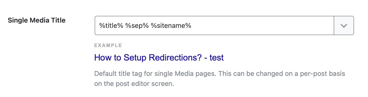 single media title template