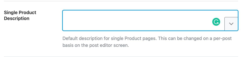 Single product description template format