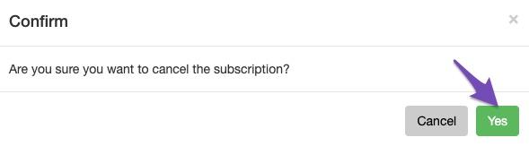 Confirm Rank Math Pro Subscription Cancellations