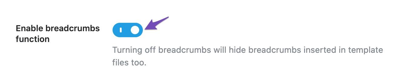 Enable breadcrumbs function