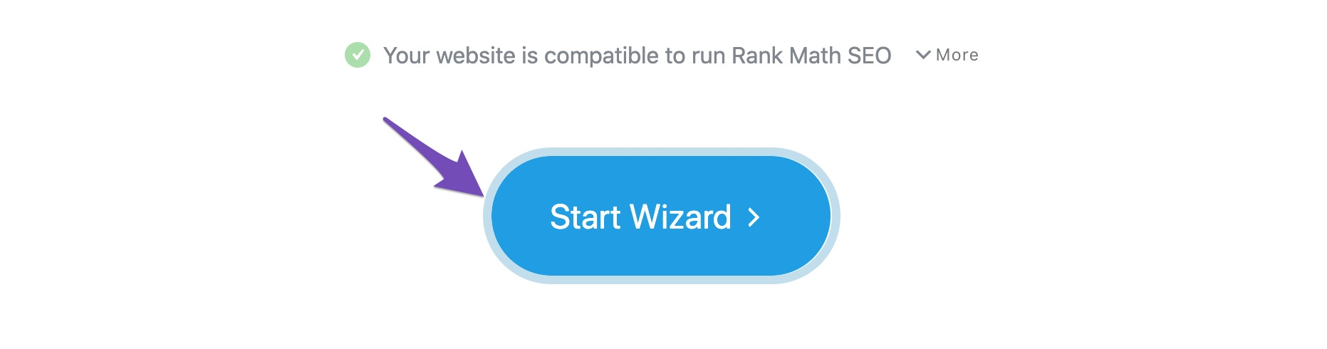 Start wizard to setup Rank Math