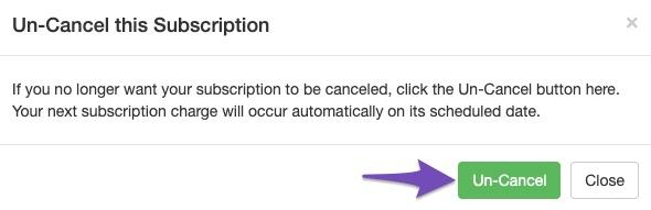 Un-cancel Rank Math Pro subscription confirmation