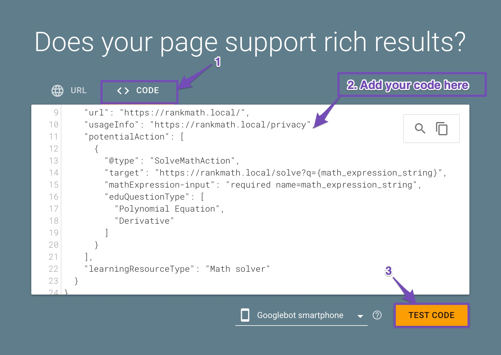 Validate your code in Google Rich Results Test tool