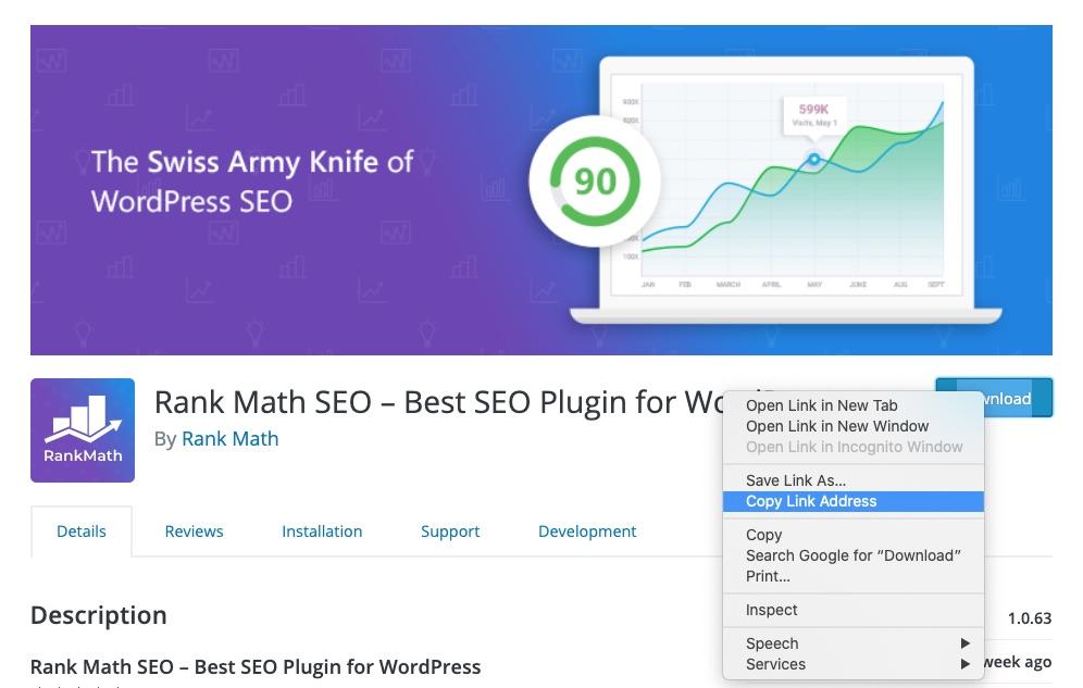 Copy Rank Math plugin download address