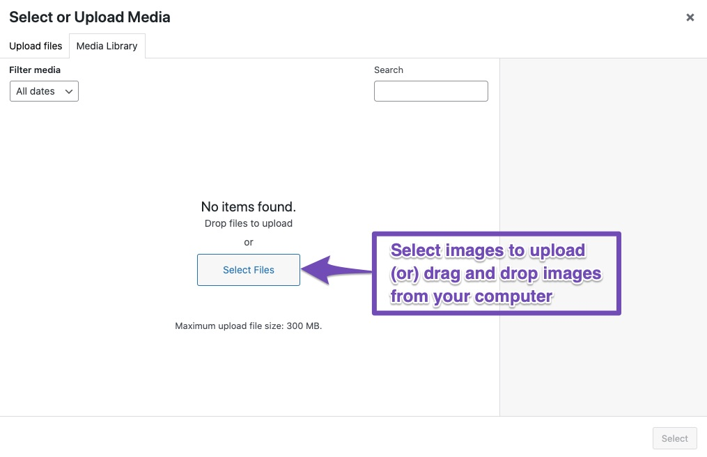How to upload an image to WordPress?