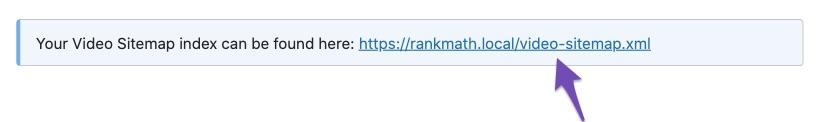 Rank Math Video Sitemap URL
