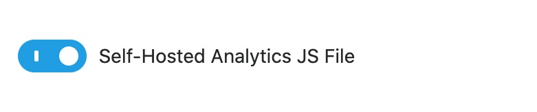 Self-hosted analytics JS file