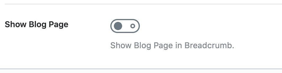 Show Blog page in Breadcrumb
