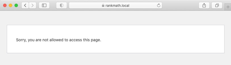 Error: Sorry, you are not allowed to access this page