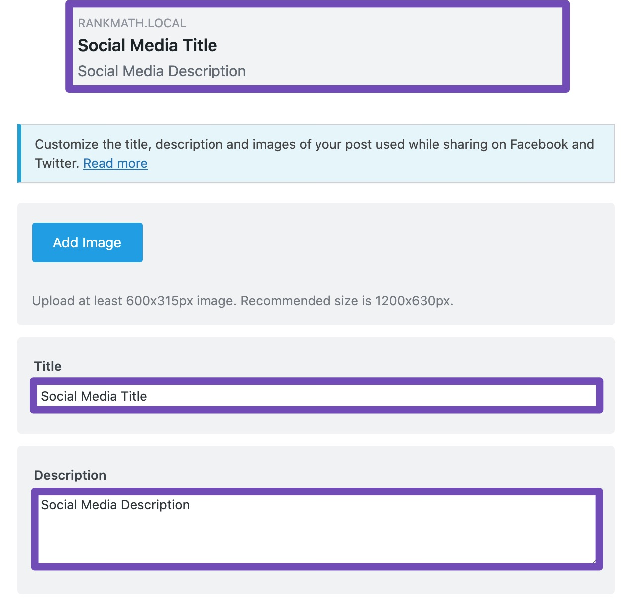 Title and description update in social preview
