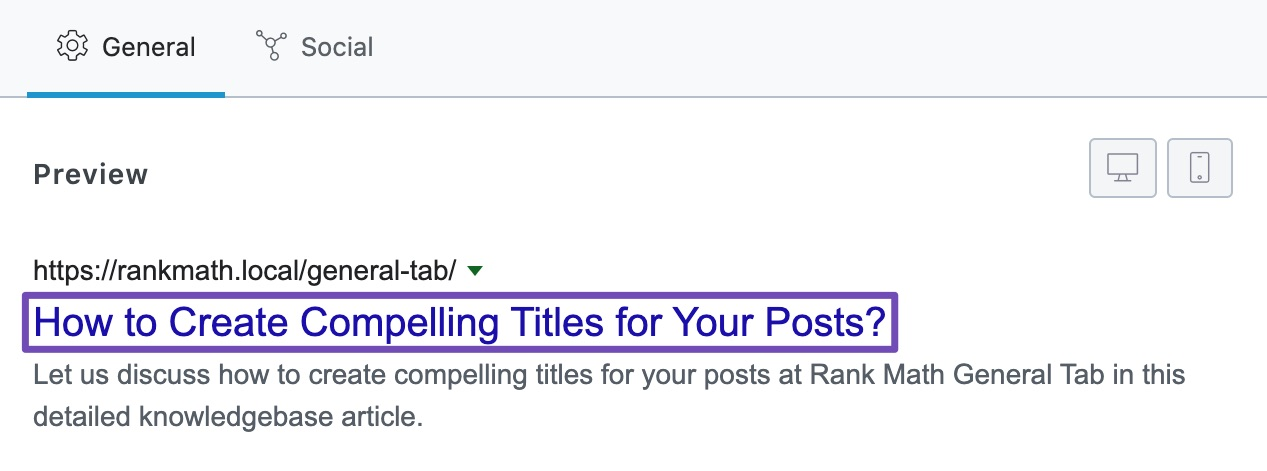 Where the title placeholder is picked from