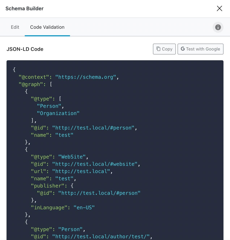Code View In Schema Validation Options