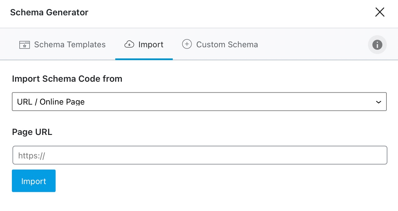 Importing Schema Options