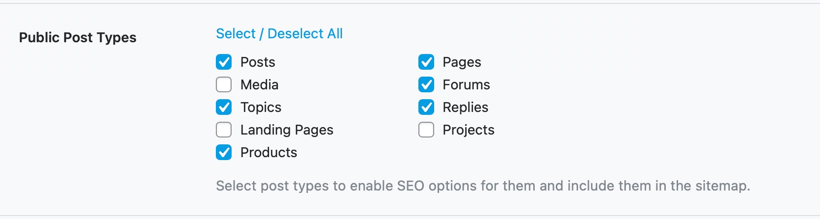 Which Public Post Types To Include In Sitemap