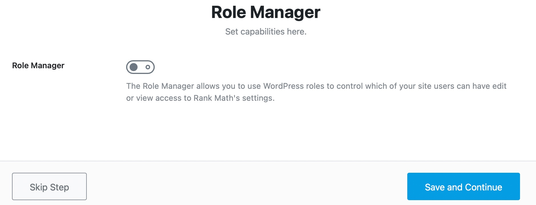 Role Manager Settings In Rank Math