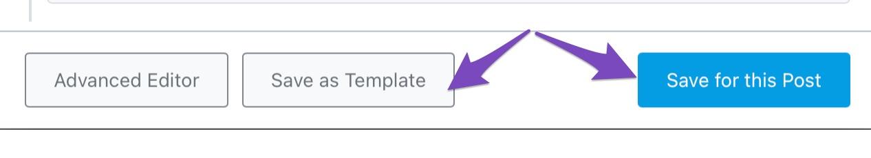 Saving Schema On Post Vs As Template