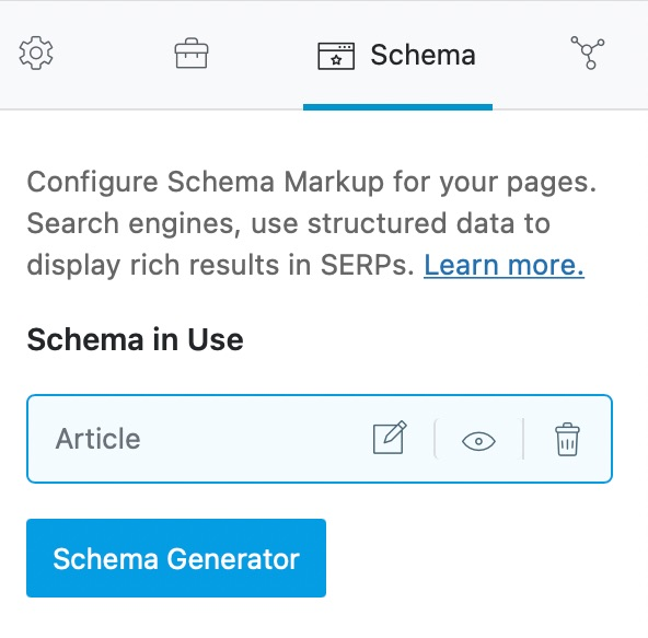 How Post Looks With Schema Added