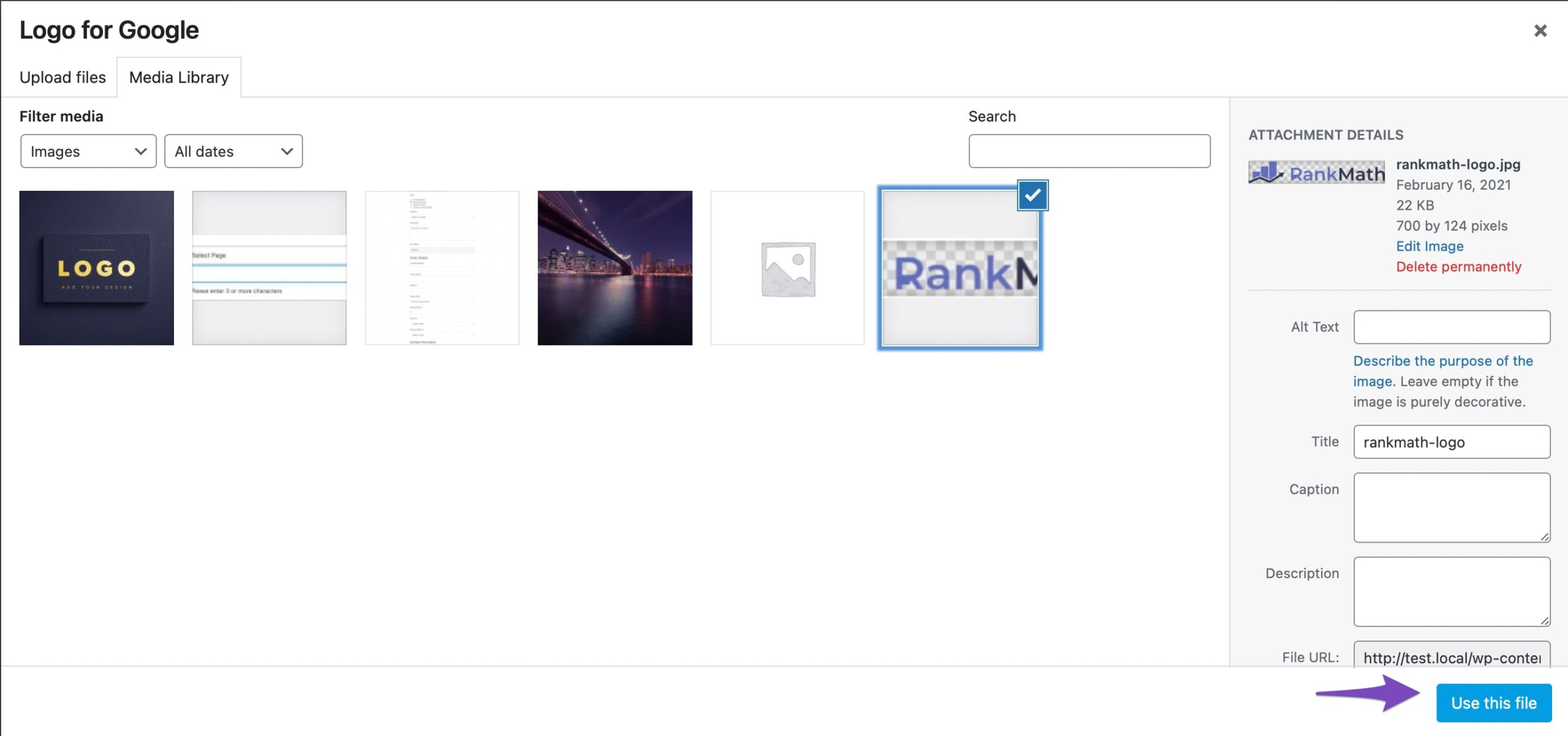 Upload And Select A Logo For Google