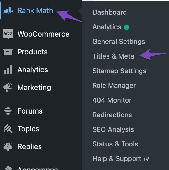 Rank Math Titles And Meta Options